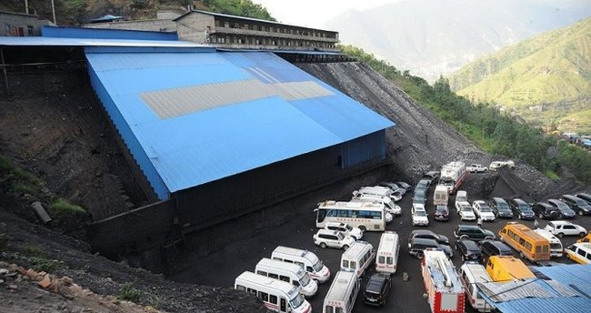 Çin'deki kömür madeni patlaması