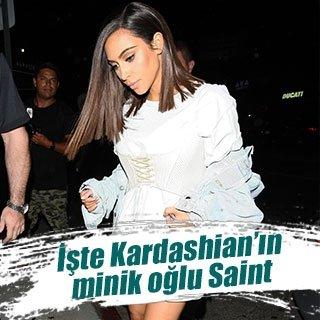 Kim Kardashian'ın oğlu Saint West sosyal medyayı salladı