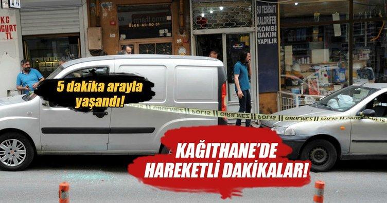 Kağıthane'de beş dakika arayla iki silahlı soygun