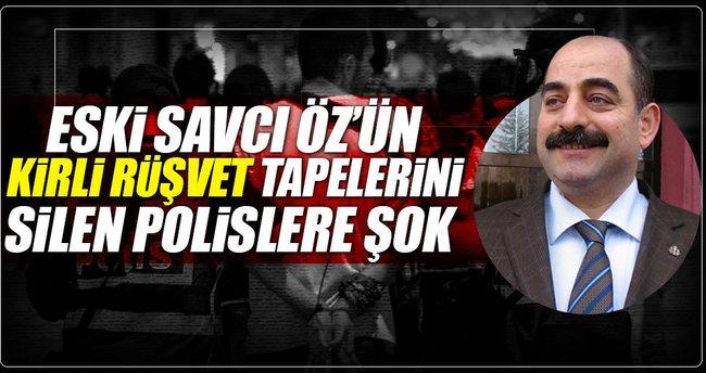 Firari Öz'ün rüşvet tapelerini sildiren polislere dava