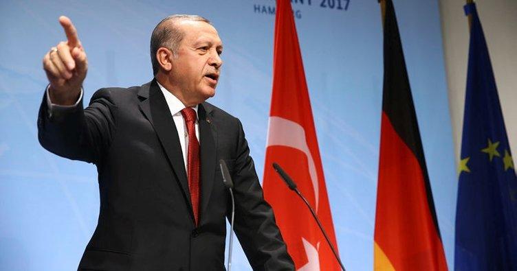 Hamburg'da Erdoğan'dan Almanya'ya salon tepkisi!
