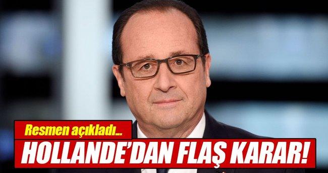 Hollande, cumhurbaşkanlığı seçiminde aday olmayacak!