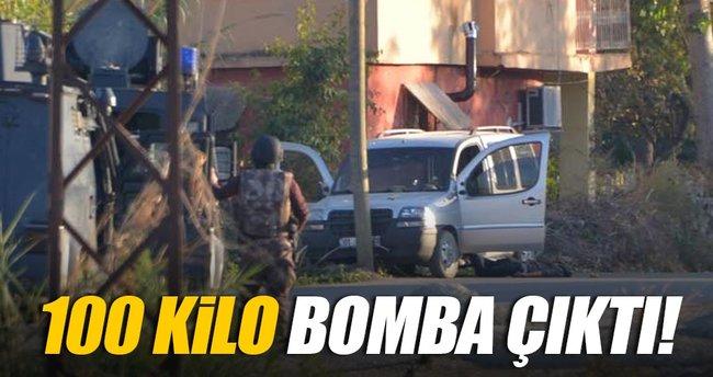 Öldürülen teröristin eyleme gittiği araçtan 100 kilo bomba çıktı