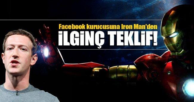 Facebook kurucusuna Iron Man'den ilginç teklif!