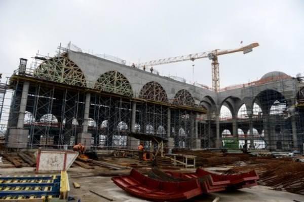 Çamlıca Cami'nde sona yaklaşıldı