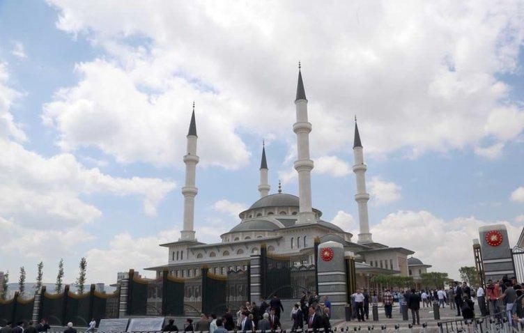 Erdoğan beştepe millet camiini açıyor