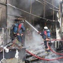 Bağdat Caddesi'nde korkutan yangın