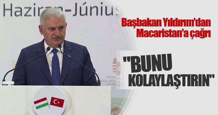 Başbakan Yıldırım'dan Macaristan'a çağrı