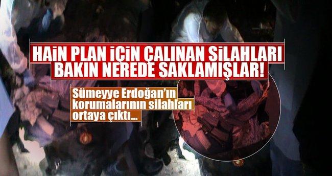 Sümeyye Erdoğan'ın koruma silahları böyle ortaya çıkarıldı