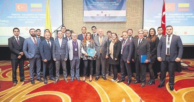 Kolombiya heyetine İzmirli birlik başkanı