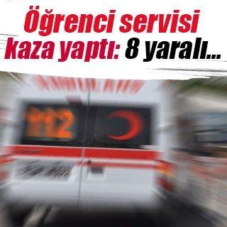 Samsun'da öğrenci servisi kaza yaptı: 8 yaralı
