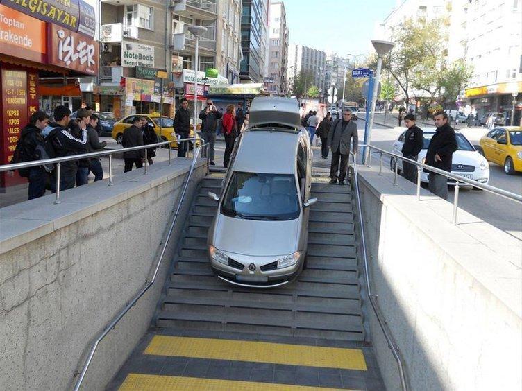 Metroyu otopark sanınca