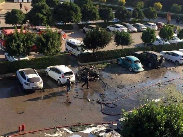Antalya'daki patlamadan kareler