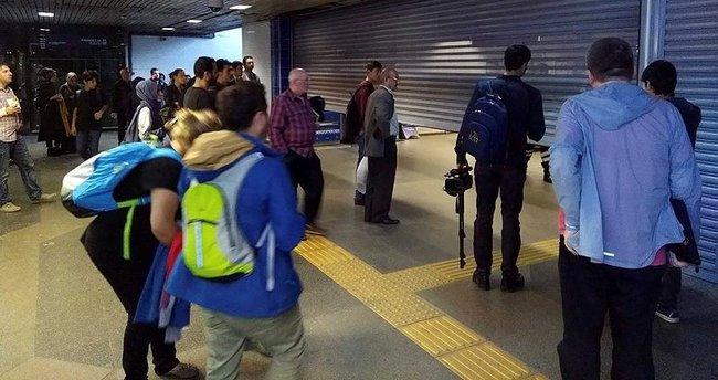 Sahipsiz çanta nedeniyle metro seferleri aksadı!