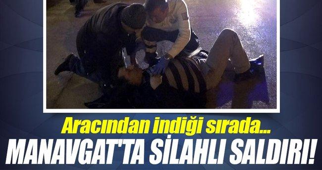 Manavgat'ta silahlı saldırı: 1 yaralı