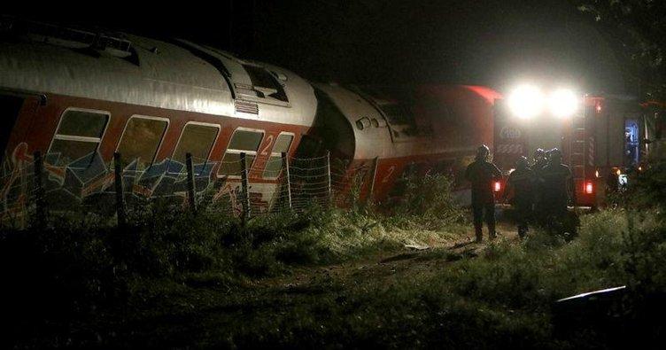 Selanik'te tren raydan çıktı: 3 ölü
