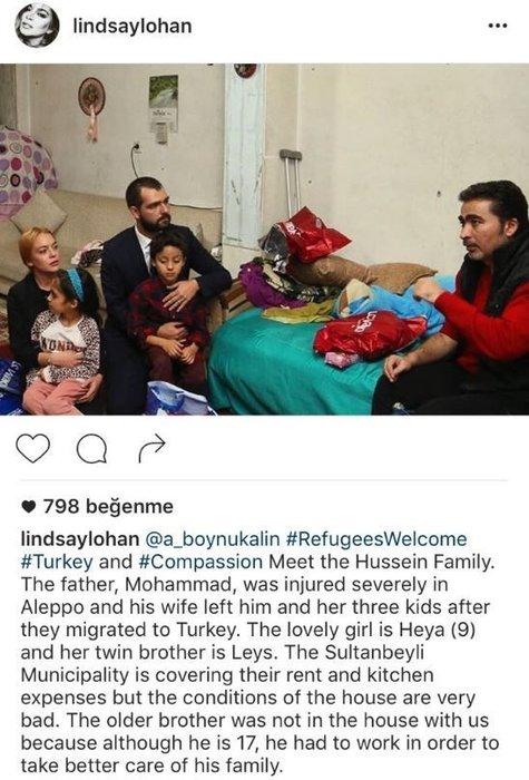 Lindsay Lohan, Cumhurbaşkanı Erdoğan'ın sözünü paylaştı binlerce mesaj yağdı