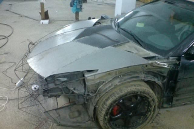 Evinde Lamborghini Aventador yaptı!