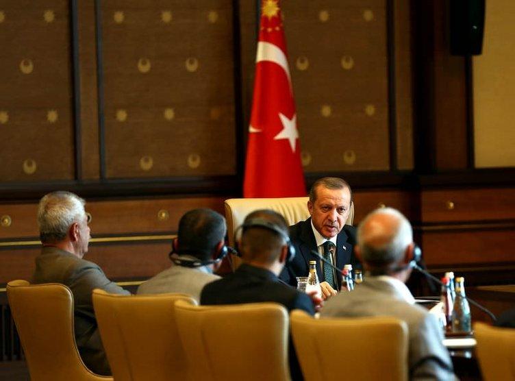Erdoğan, Ezidi heyeti kabul etti