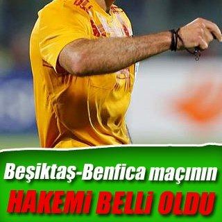 Beşiktaş - Benfica maçının hakemi belli oldu