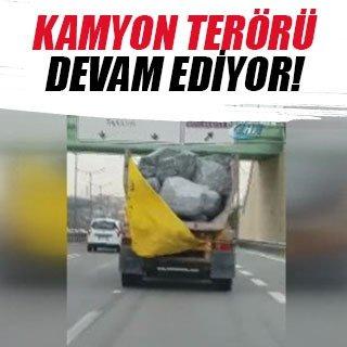 Hafriyat kamyonu terörü devam ediyor