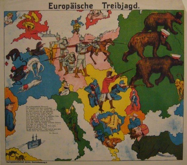 Birinci Dünya Savaşı'nın propaganda haritaları