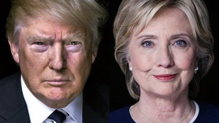 Clinton ve Trump'ı destekleyen ünlüler