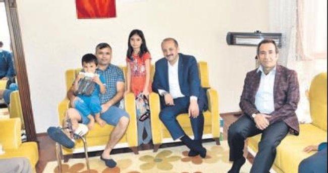 Akgül'den şehit ailelerine ziyaret