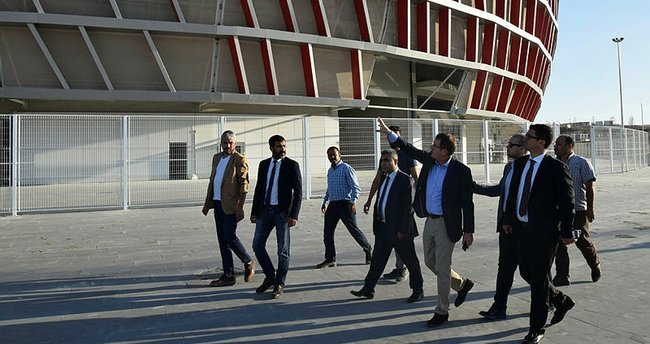Gaziantep Arena'da son durum