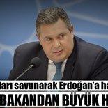 Yunan bakandan büyük hadsizlik