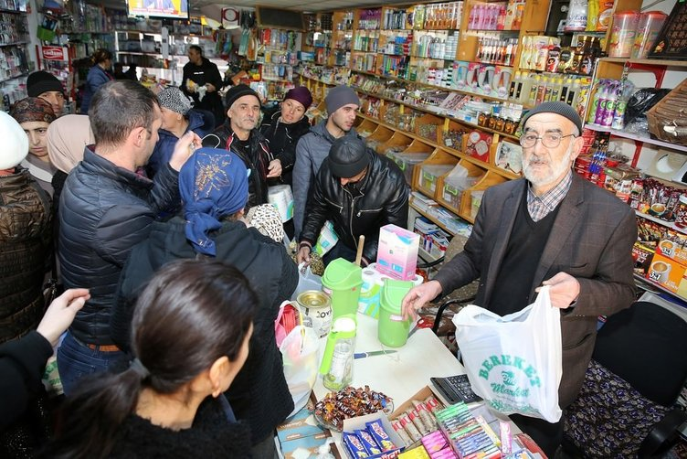 Erzincan'a yerleştirilen Ahıskalı Türkler ilk alışverişlerini yaptılar!