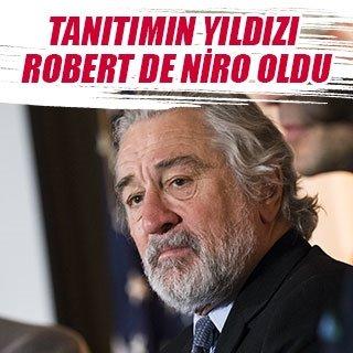 Tanıtımın yıldızı Robert de Niro oldu
