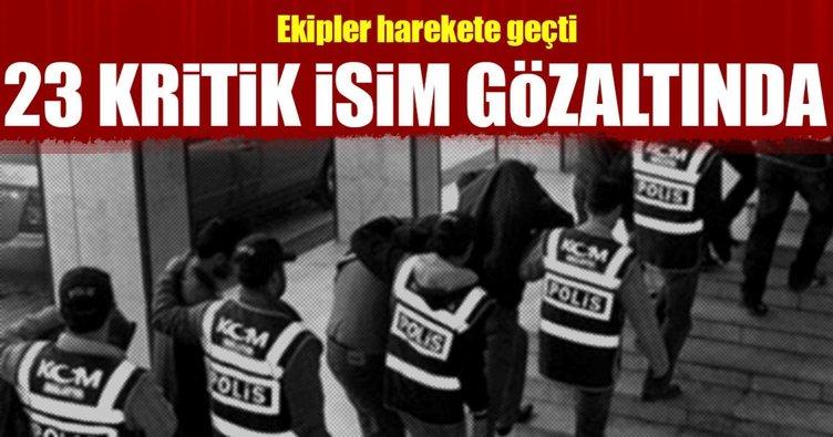 5 ilde FETÖ operasyonu: 23 gözaltı