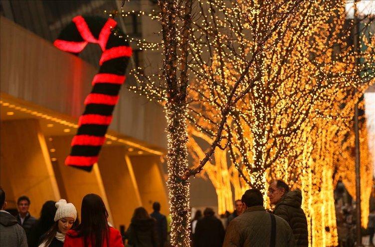 ABD'de Noel ışıkları