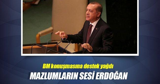 Mazlumların sesi Erdoğan