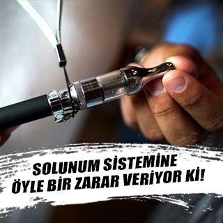 Elektronik sigara solunum sisteminde bozukluklara yol açıyor