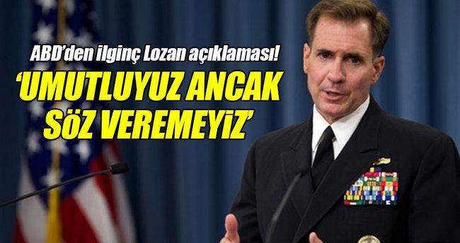 ABD'den Lozan'da yapılacak Suriye görüşmeleri için açıklama!