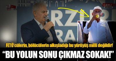 Başbakan Erzurum'da halka seslendi