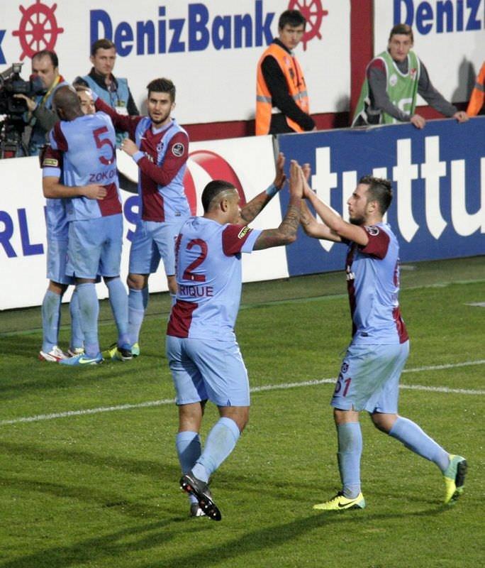 Trabzonspor - Eskişehirspor maçından kareler