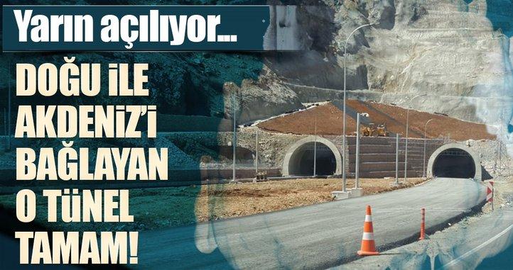 Doğu Anadolu'yu Akdeniz Bölgesi'ne bağlayacak Erkenek Tüneli tamamlandı