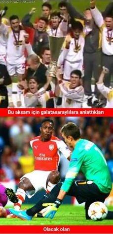 Galatasaray - Arsenal maçının capsleri