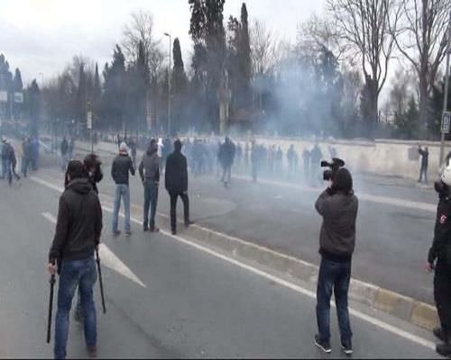 Karagümrük - Eyüpspor taraftar grupları arasında çatışma