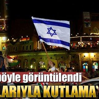 Erbil'de İsrail bayrağıyla kutlama