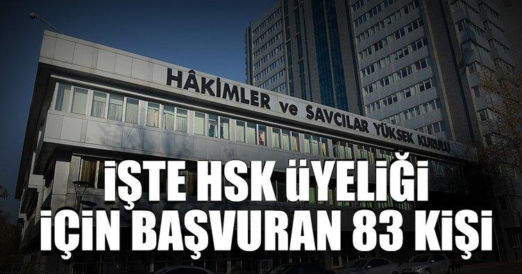 HSK üyeliği için Meclise 83 başvuru yapıldı