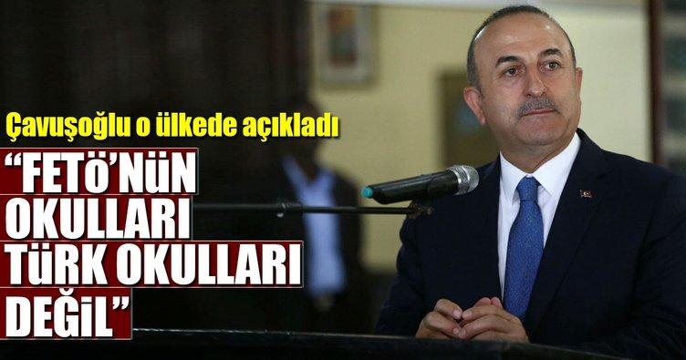 Çavuşoğlu'ndan FETÖ okulları açıklaması