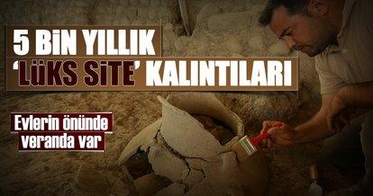 İzmir'de 5 bin yıllık 'lüks site' kalıntıları