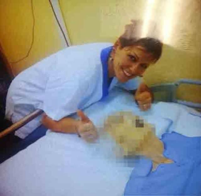 Hemşirenin kan donduran görüntüleri!