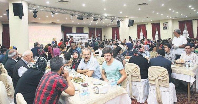Şehit aileleri iftar sofrasında buluştu