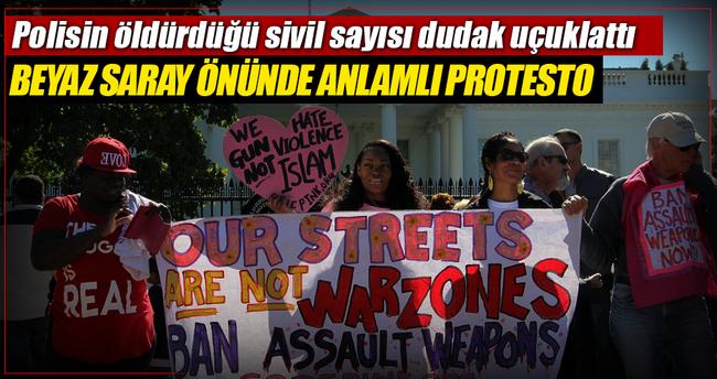 Beyaz Saray önünde silah karşıtları gösteri düzenledi