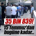 FETÖ'den kaç kişi tutuklandı? Kaç kişi firarda?